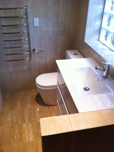 compact ensuite with walk in shower
