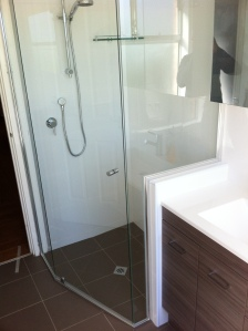 renovation. semi-frameless shower screen